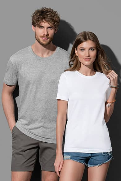 Crew neck T-shirt for men and women