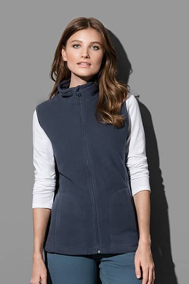 Fleece vest for women