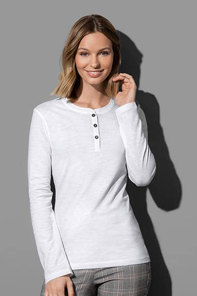 Stedman Sharon Henley Long Sleeve